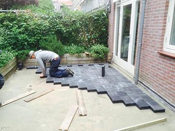 Goedkoop tuin laten bestraten materialen voor constructie for Tuin laten bestraten