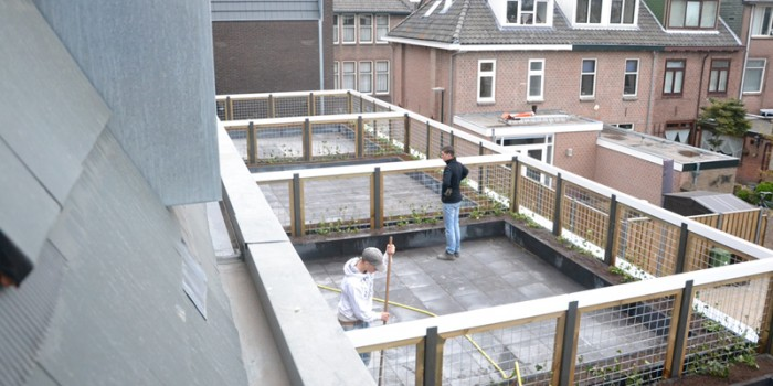 Aanleg daktuin in Woerden