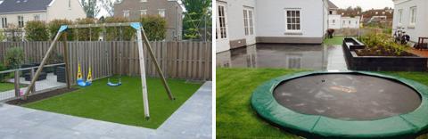 Goede Trampoline of speeltoestel plaatsen: kindvriendelijke tuin TK-13