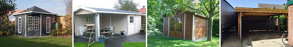 Plaatsing van tuinhuis, schuur of carport